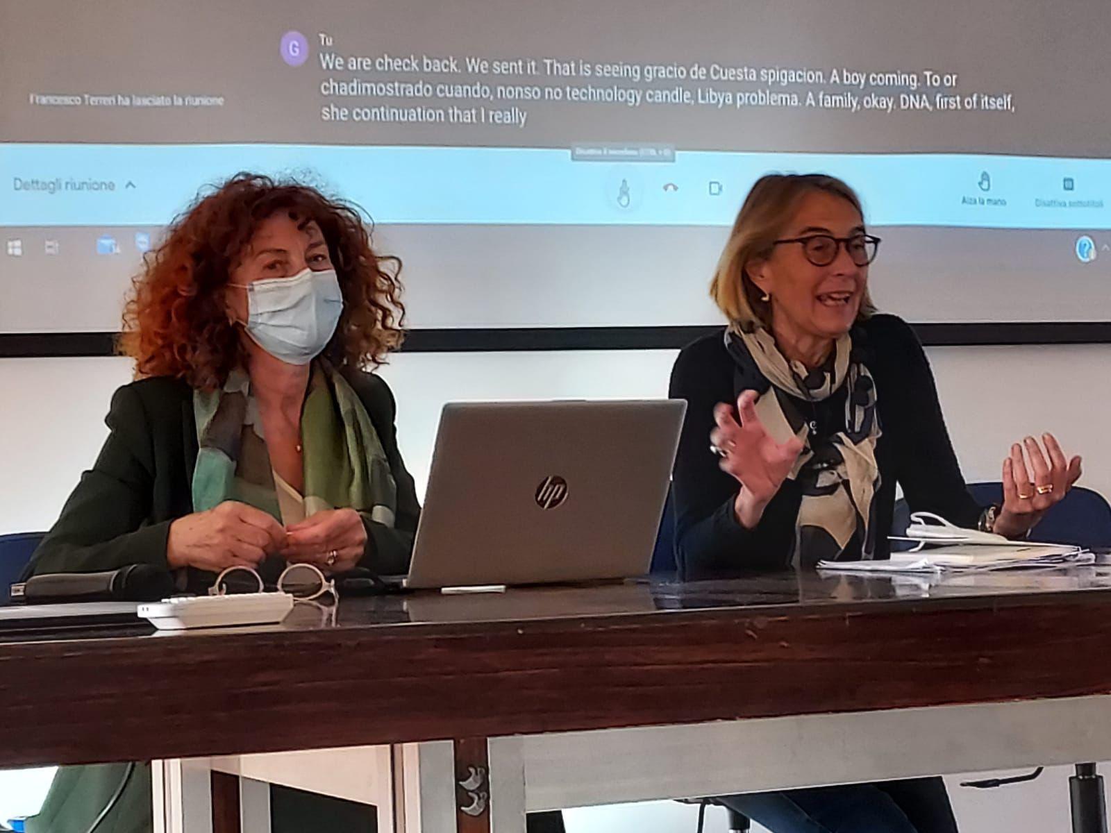Il presidente dell'associazione Gilda Di Paolo con il segretario Livia Mattei